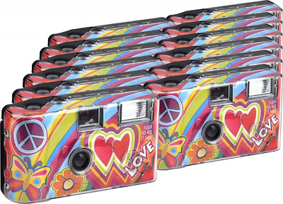 TopShot Love Cult Disposable Camera 27 Photos Flash 12 Pack