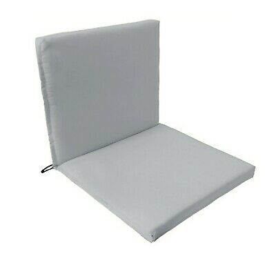 Grey Outdoor Indoor Home Garden Chair Back Seating 2 Part Pad ONLY Multipacks