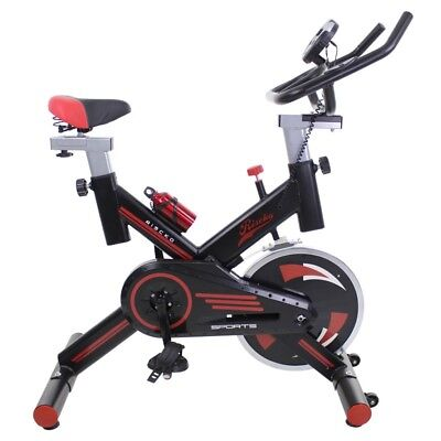 Bicicleta spinning regulable Riscko con pantalla LCD y disco inercia 24kg