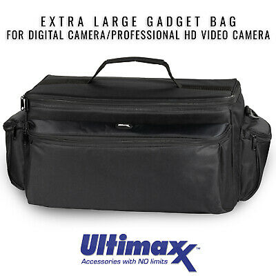 ULTIMAXX Extra Large Soft Padded Camcorder Equipment Bag Case