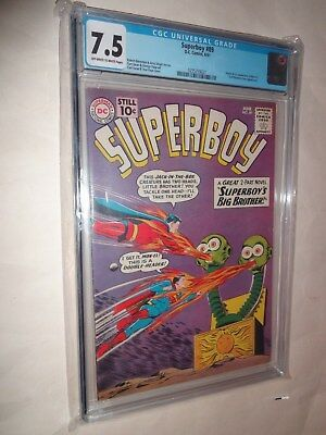 Superboy  #89 Cgc (7.5) 1St Mon-El, 2Nd Appearance Of Phantom Zone !