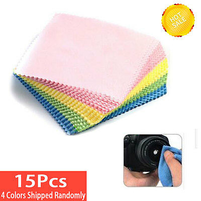 15 MICROFIBER CLEANING CLOTH - Clean Phone & Computer Screen Glasses Camera Lens