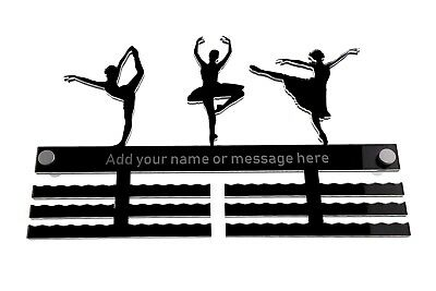 Personalised Medal Holder Hanger - Ballet Dancer, Ballet Dancing