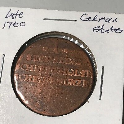 late 1700? Unknown German States world foreign coin poor condition