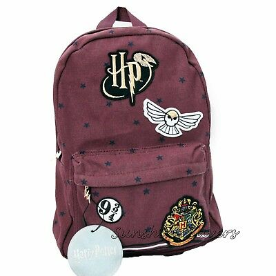Official Harry Potter New! Hogwarts Crest Hedwig 9 3/4 Golden Snitch Backpack