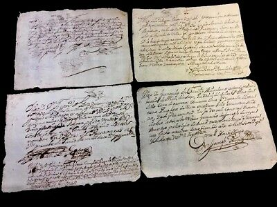 LOT OF FOUR SPANISH DOCUMENTS 1600s