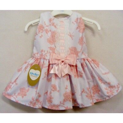 5cde57cf26df Kinder Boutique Girls Pink Spanish Style Bow Dress Roses   Butterflies ...