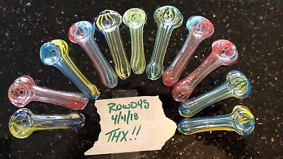 """Collectible Tobacco Pipe 3""""- Buy 2 Get 1 Free, Glass Hand Smoking Pipes"""