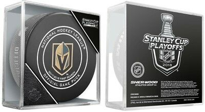 2018 Vegas Golden Knights Puck Official Playoff Game Version 1St 2Nd Rounds Nhl