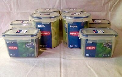 8 BIOKIPS KOMAX Food Storage Containers BPA Free Airtight Microwave