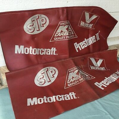 Vintage Automotive Car Fender Covers Mechanic Stp Motorcraft Valvoline Prestone