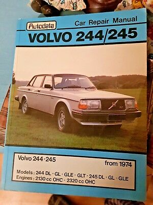 autodata workshop car repair manual for volvo 244 245 from 1974 rh picclick co uk Volvo 240 Turbo Volvo 240 DL