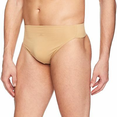 Capezio Men's Reinforced Front-Lined Thong Dance Belt, Natural, Medium