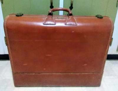 Vintage Suitcase Wheary Colonial Leather Hard Side Luggage  23 x 18 x 6.5