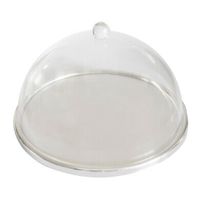 Cake Display Stand w Acrylic Dome Cover 330x30mm Cupcake Slice Cafe Display