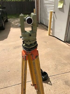 Wild Heerbrugg T16 Scale Reading Theodolite Survey w/ Transit Case Free Shipping
