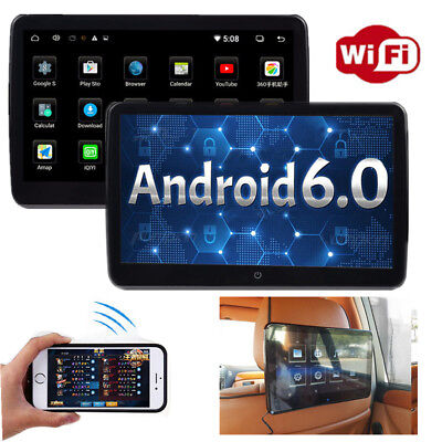 """2x 10.6"""" Dual 4-Core Android 6.0 HD Car Seat Monitor Touchscreen WIFI Bluetooth"""