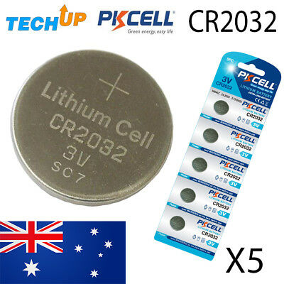 x5 Original PKCELL Cr2032 lithium Button Cell coin batteries v3 Fresh stock melb