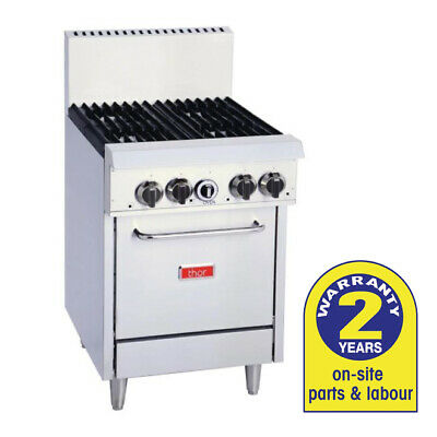 Gas Oven with 4 Open Burners LPG Hotplate Cooktop Range Thor Commercial Kitchen
