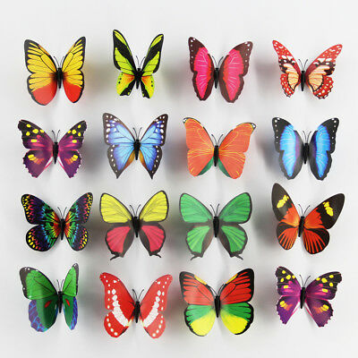 12CM 3D Simulation Butterfly Magnetic Refrigerator Wall Stickers Home Decoration