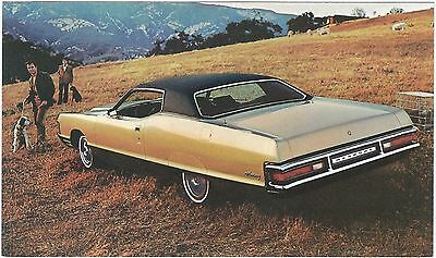 1972 Mercury MONTEREY 2-Door HARDTOP Dealer Promotional Postcard UNUSED VG+/Ex ^