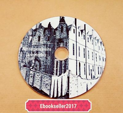 Nottinghamshire, local directories, ebooks, genealogy, pdf files on disc for PC