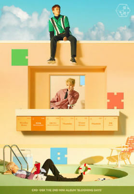 EXO CBX-[BLOOMING DAYS] Day ver CD+64p Booklet+1pPhotoCard+Sticker+Kpop poster