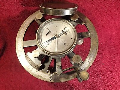 19 century LARGE HEAVY 5 kg ANTIQUE BRASS COMPASS WORKING - NO PRODUCER MARKINGS