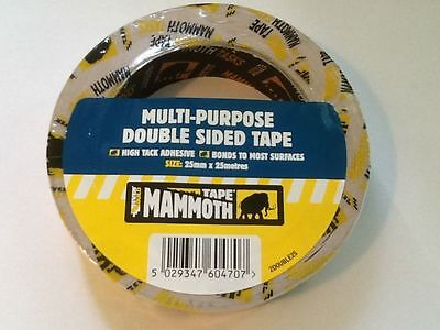 Everbuild Mammoth Powergrip double-sided tape 25mm x 25 metre