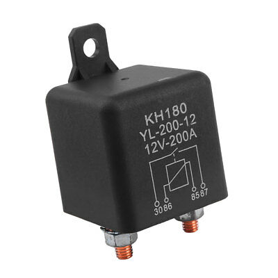 12V 200A Relay 4 Pin Car Auto Heavy Duty Install Amp Style Split Chargeove A+