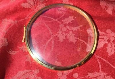 Brass Bezel And Convex Glass  From  An Antique Mantel Clock Smiths