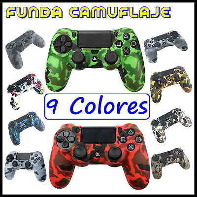 Funda de silicona para mando Sony PlayStation 4 PS4 Play Camuflaje carcasa