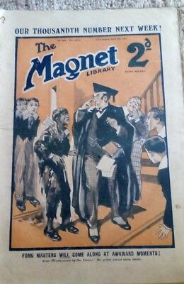 vintage the magnet library April 9th 1927 boys school magazine 999