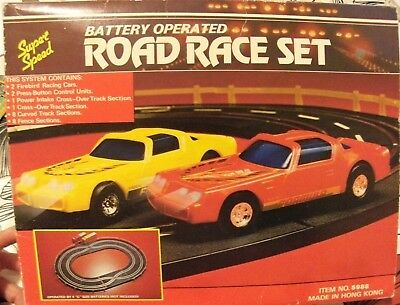 Vintage battery operated super speed road race set - NOT WORKING - Hong Kong