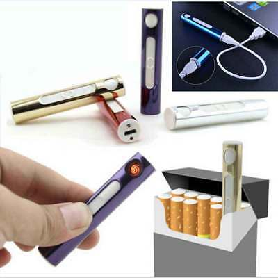 Mini Electric USB Lighter Cigarette Cigar Slim Rechargeable Flameless Windproof