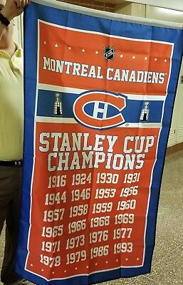 Montreal Canadiens NHL Stanley Cup Champions Dynasty Banner