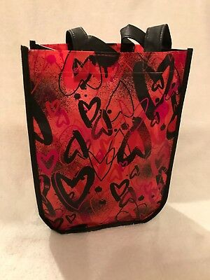 ZUMBA Love Red Hearts Shopping Tote Fitness Bag P.S. Don't Forget to Dance  NEW!