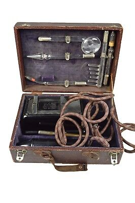 Antique High Frequency Medical Radiation Cure All Device, German.