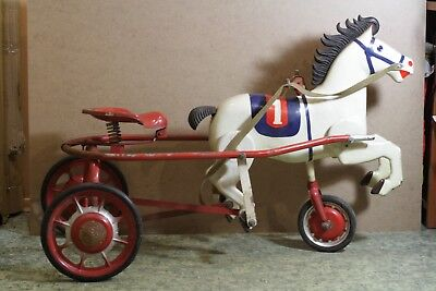 Antique horse pedal. USSR, Soviet Time very RARE and OLD  Metal Pedal Car