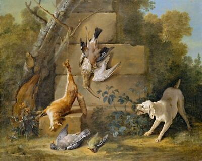 Vintage Hunting Dogs With Game Jean-Baptiste Oudry Painting Fine Art Print A3 A4