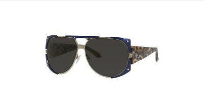 b425249843ea Christian Dior 62 Mm Enigmatic Metal Shield Sunglasses Blue Leopard Eyewear