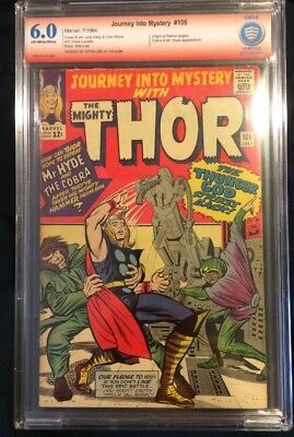 Journey Into Mystery 106 CBCS 6. Signed by Stan Lee Origin of Balder Like CGC SS