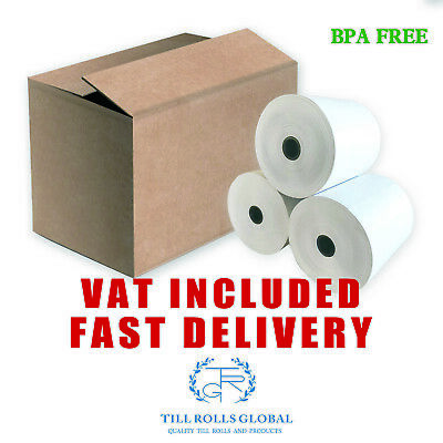 80 x 80mm thermal till rolls extra paper 20,40,60,80,90,120 or 180 rolls