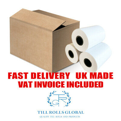 WORLDPAY iWL250 TILL ROLLS - ROUND BACK PDQ THERMAL (50 in a box)