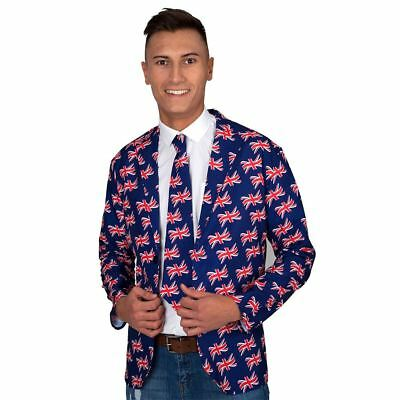 Da Uomo Union Jack Bandiera risaltare Suit FANCY DRESS Stag Do Party Costume Outfit