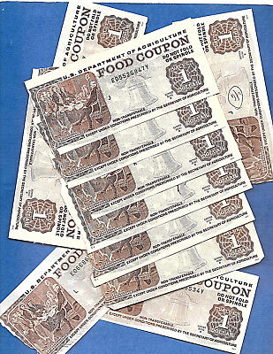 Food Stamp Coupon One 2000 B $1.00 Circulated Torn From Book Usda