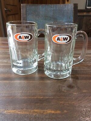 Vintage A & W Glass Root Beer Mugs
