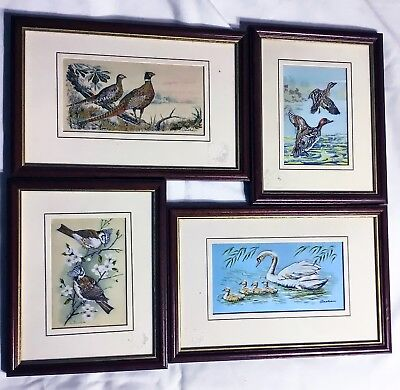 Framed Silk Embroidery Nature Scenes