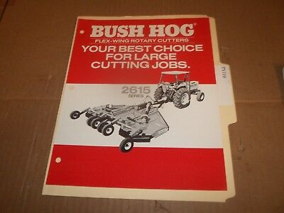 PY110) Bush Hog Sales Brochure 4 Pages - 2615 Series Flex Wing Rotary Cutters