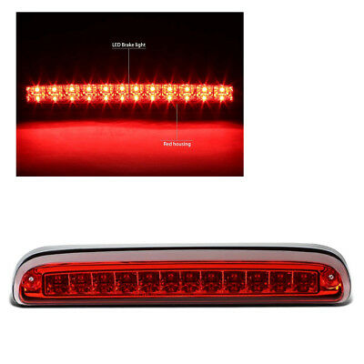 For 99-16 F250/F350/F450/F550 Super Duty Rear LED 3rd Brake/Stop Light Red